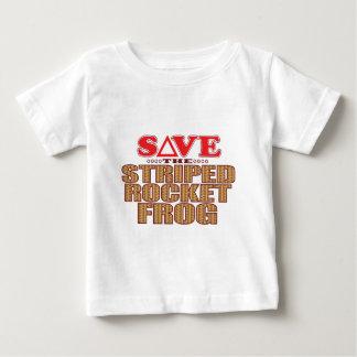 Striped Rocket Frog Save Baby T-Shirt