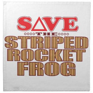 Striped Rocket Frog Save Napkin