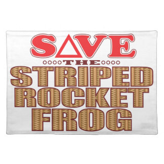 Striped Rocket Frog Save Placemat