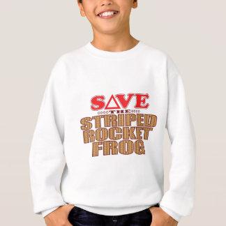 Striped Rocket Frog Save Sweatshirt