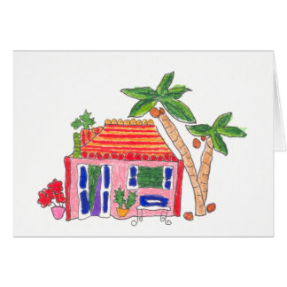 Striped Roof House Cards