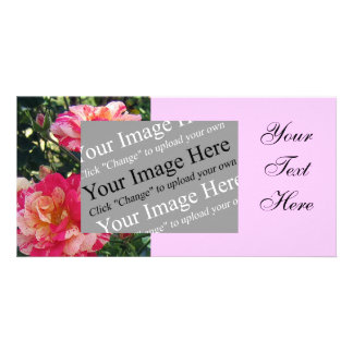 Striped Roses Photo Card Template
