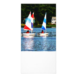 Striped Sails Photo Card Template