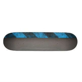 Striped Silver Brushed Aluminum Skate Board