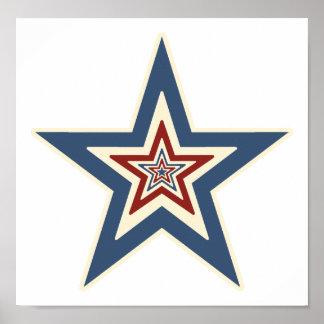 Striped Star Print