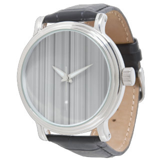 Striped Stripes Gray Grey Pattern Print Wristwatch