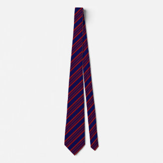 Striped Ties For Men Blue And Dark Red