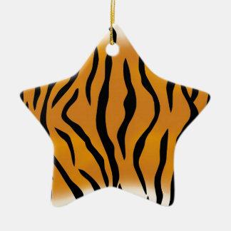 Striped Tiger Pattern Ceramic Star Decoration