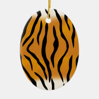 Striped Tiger Pattern Christmas Ornament