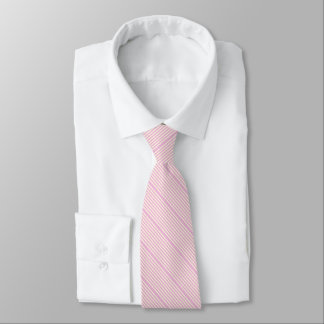 Striped two tone pastel pink cream tie
