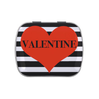Striped Valentine Jelly Belly Candy Tins