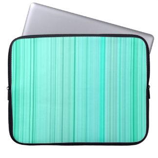 Striped Vertical Stripes Green Teal Seafoam Mint Laptop Sleeve