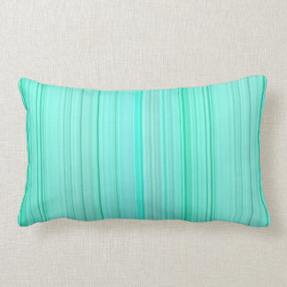 Striped Vertical Stripes Green Teal Seafoam Mint Lumbar Cushion