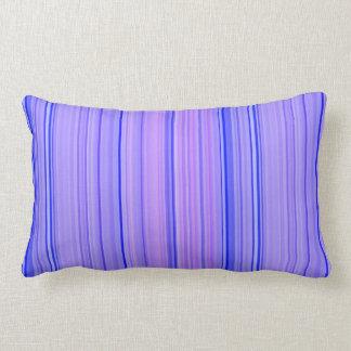 Striped Vertical Stripes Purple Lumbar Cushion