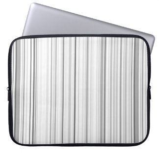 Striped Vertical Stripes White Gray Light Grey Laptop Sleeve