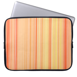Striped Vertical Stripes Yellow Orange Laptop Sleeve