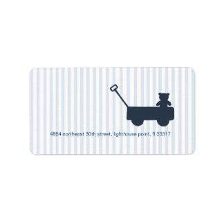Striped Wagon Address Label