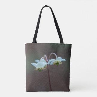 Striped Wintergreen Pipsissewa Wildflower Tote Bag