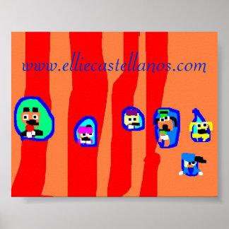 striped, www.elliecastellanos.com - Customized Poster
