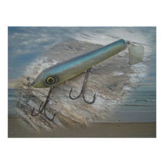 Striper Xpert Surf Slapper Antique Fishing Lure De Poster