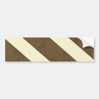 stripes26 BROWN WHITE CREAM STRIPES PATTERN BACKGR Bumper Sticker