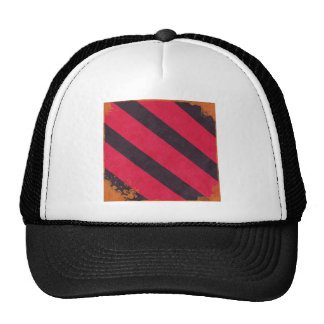 STRIPES26 HOT PINK STRIPES BLACK ORANGE GRUNGE DIG TRUCKER HATS