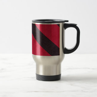 STRIPES26 HOT PINK STRIPES BLACK ORANGE GRUNGE DIG MUG