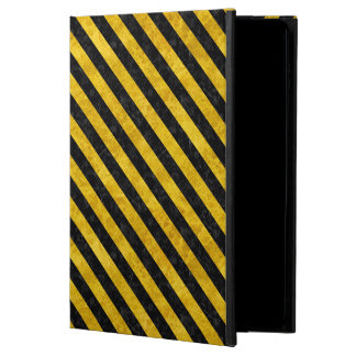 STRIPES3 BLACK MARBLE & YELLOW MARBLE (R) POWIS iPad AIR 2 CASE