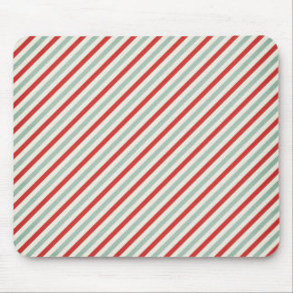 stripes73 red green cream stripes candycane diagon mouse pad