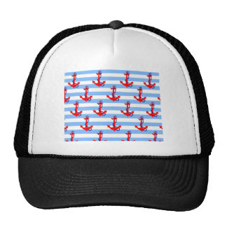 Stripes and Anchors Hat