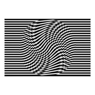 Stripes and Circles I Poster
