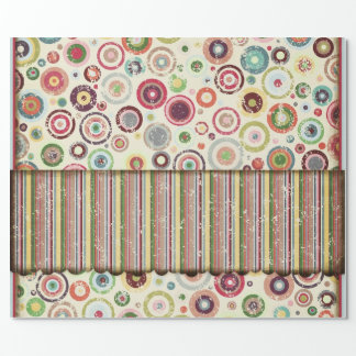 Stripes and Circles Wrapping Paper