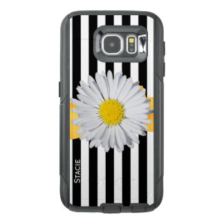 Stripes and Daisy Otterbox Samsung S6 Case