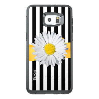 Stripes and Daisy Otterbox Samsung S6 Edge Plus
