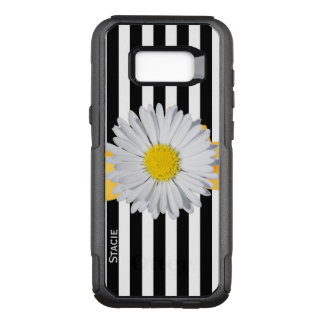 Stripes and Daisy Otterbox Samsung S8 Case