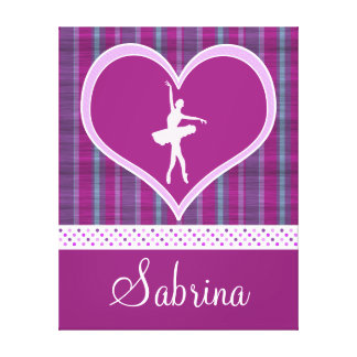 Stripes and Dots Dance Canvas (Large) Gallery Wrap Canvas