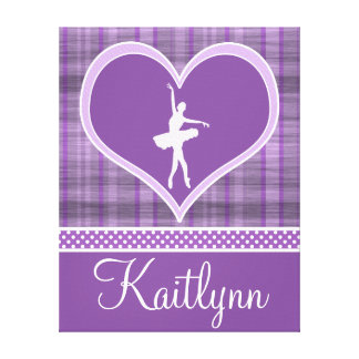 Stripes and Dots Dance Canvas (small) Gallery Wrapped Canvas