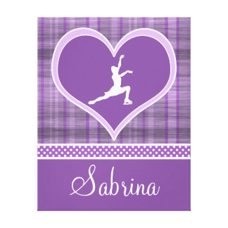 Stripes and Dots Figure Skating Canvas (Large) Gallery Wrapped Canvas