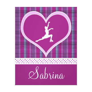 Stripes and Dots Figure Skating Canvas (Large) Stretched Canvas Print