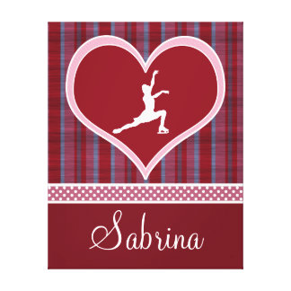 Stripes and Dots Figure Skating Canvas (Large) Canvas Prints