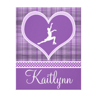 Stripes and Dots Figure Skating Canvas (small) Stretched Canvas Prints