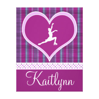 Stripes and Dots Figure Skating Canvas (small) Stretched Canvas Print
