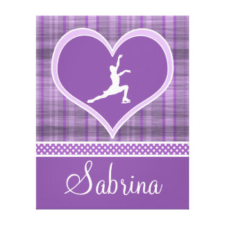 Stripes and Dots Figure Skating Canvas (X-Large) Stretched Canvas Print