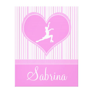 Stripes and Dots Figure Skating Canvas (X-Large) Stretched Canvas Prints
