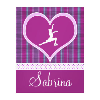 Stripes and Dots Figure Skating Canvas (X-Large) Canvas Print