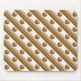 Stripes and Dots - Milk and White Chocolate Mouse Pad
