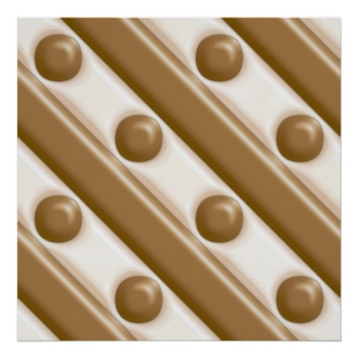 Stripes and Dots - Milk and White Chocolate Poster