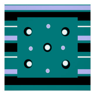 Stripes and Dots Poster