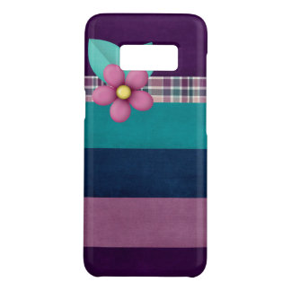 Stripes and flower on barely there galaxy S8 case