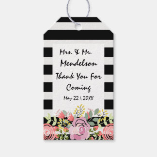 Stripes and flowers gift tags